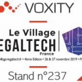Exposant au village de la Legaltech
