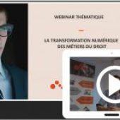 Webinar transformation numérique métier du droit