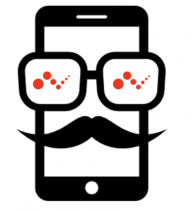 Mobile moustache Logo Voxity